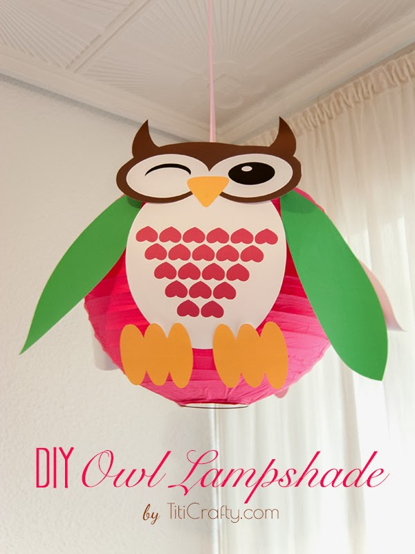DIY owl lampshade