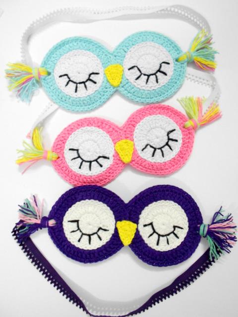 DIY crochet sleeping masks