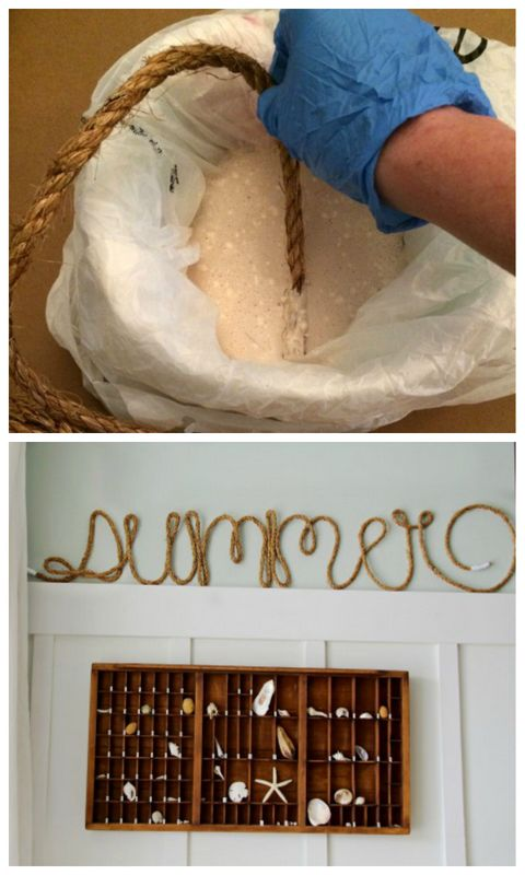 Make rope letters