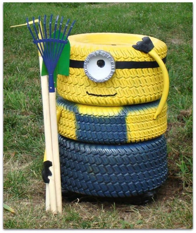 DIY tire minion