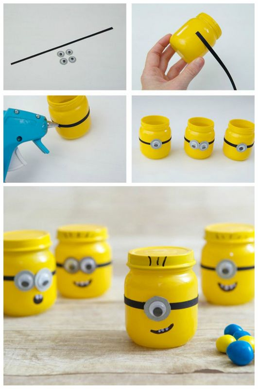 minions baby food jars