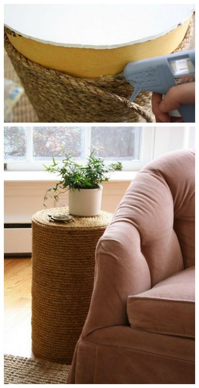 rope side table from scratch