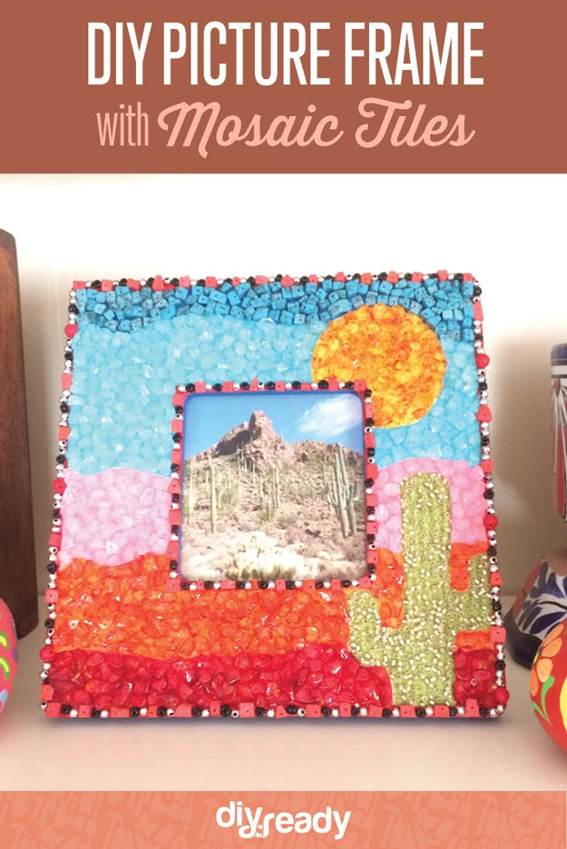 Diy picture frame with mosaic tilesg diy kids mosaic art sciox Image collections