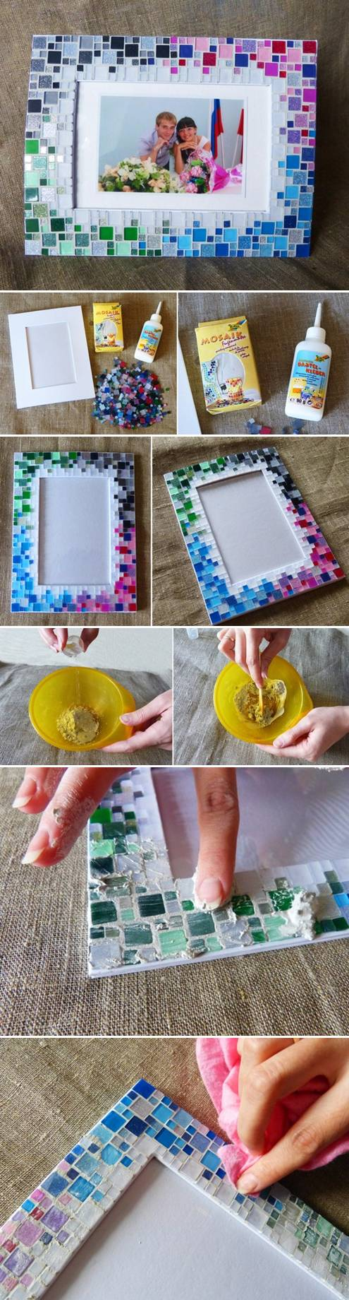 Small mosaic tiles for crafts - Mosaic Tile Frame