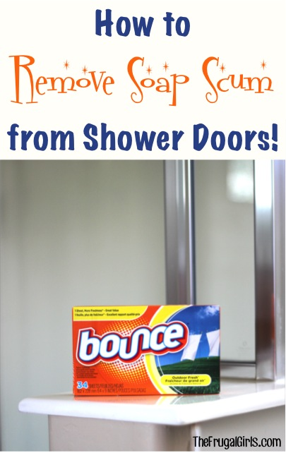 how to remove soap scum from shower doors