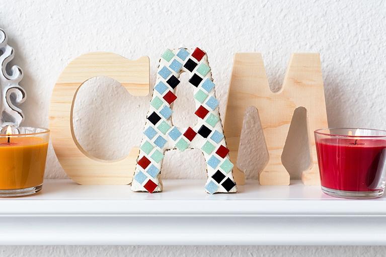 mosaic monogram letter