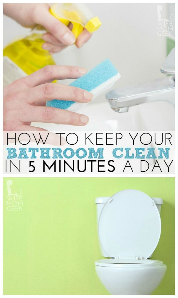 How to keep your bathroom clean in 5 minutes a day autos for How to keep a toilet clean