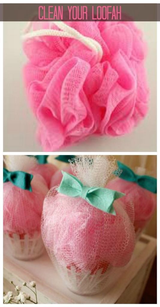 how to clean a loofah without bleach