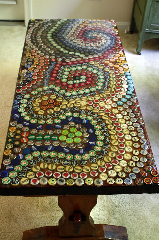 Craftionary diy bottle cap mosaic table sciox Image collections