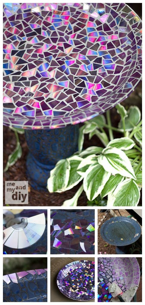 DIY VD Mosaic Bird Bath
