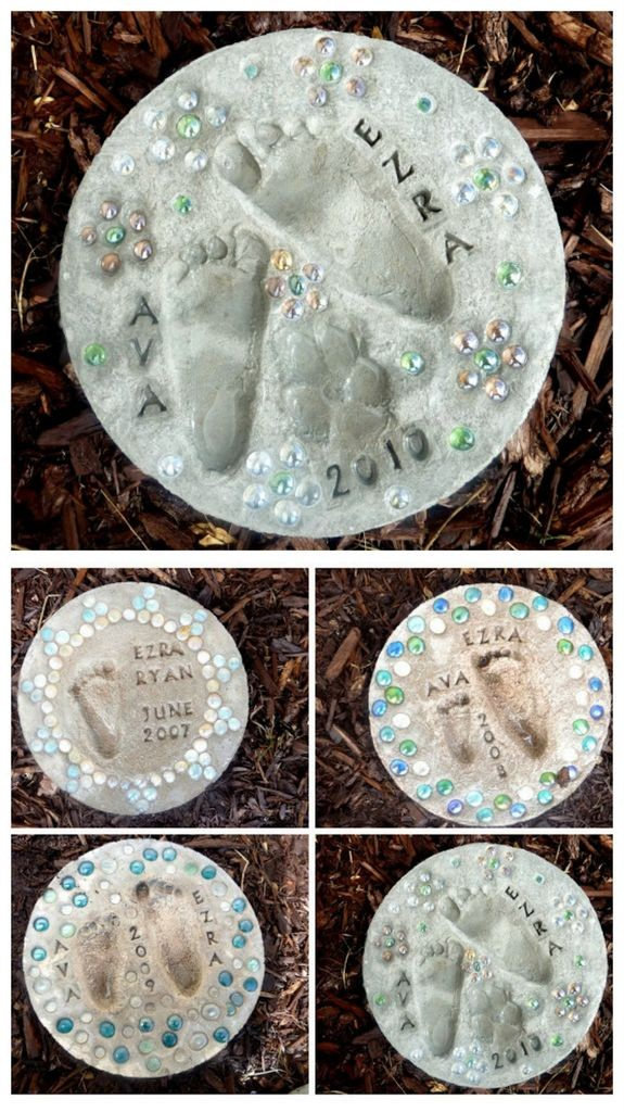 DIY feet stepping stones