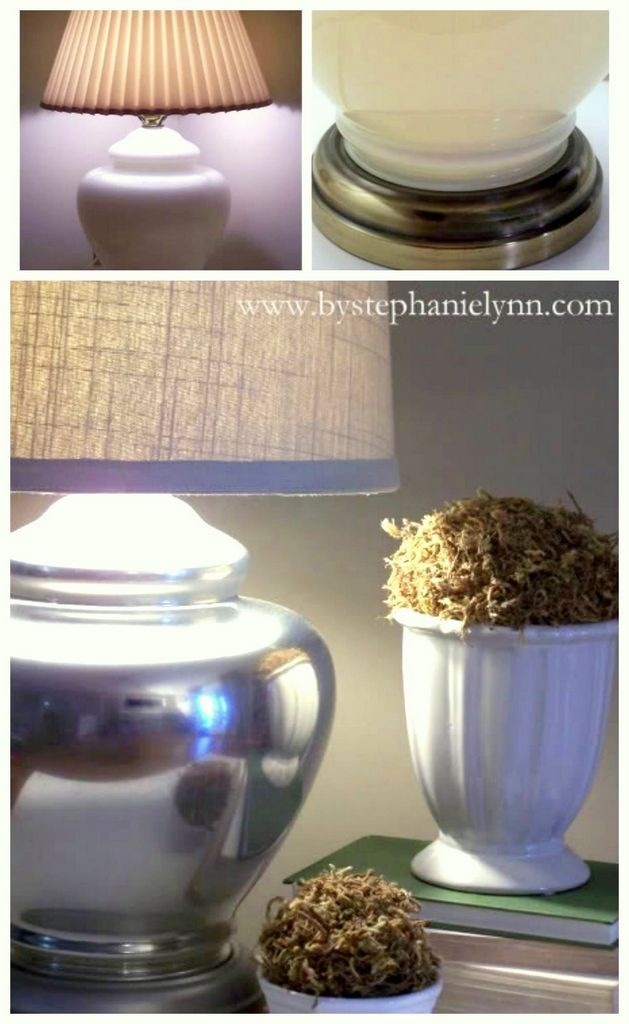 DIY Mirror paint lamp