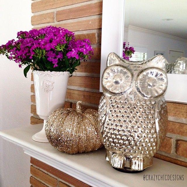 DIY mercury glass owl