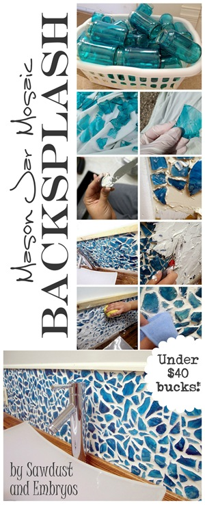 DIY mosaic backsplash