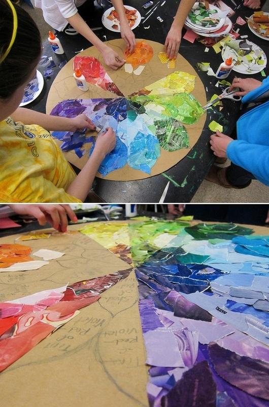 Mosaic kids art collage