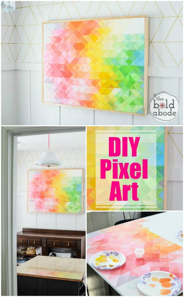 Craftionary diy pixel abstract art solutioingenieria Image collections