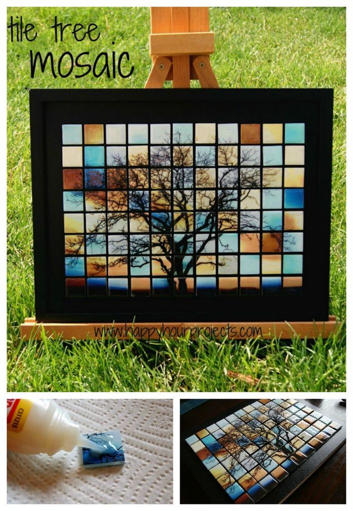 Tile tree mosaic