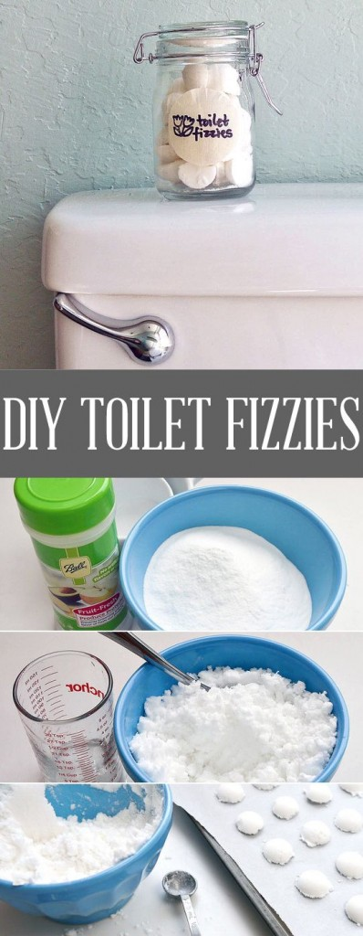 DIY toilet refreshing fizzies