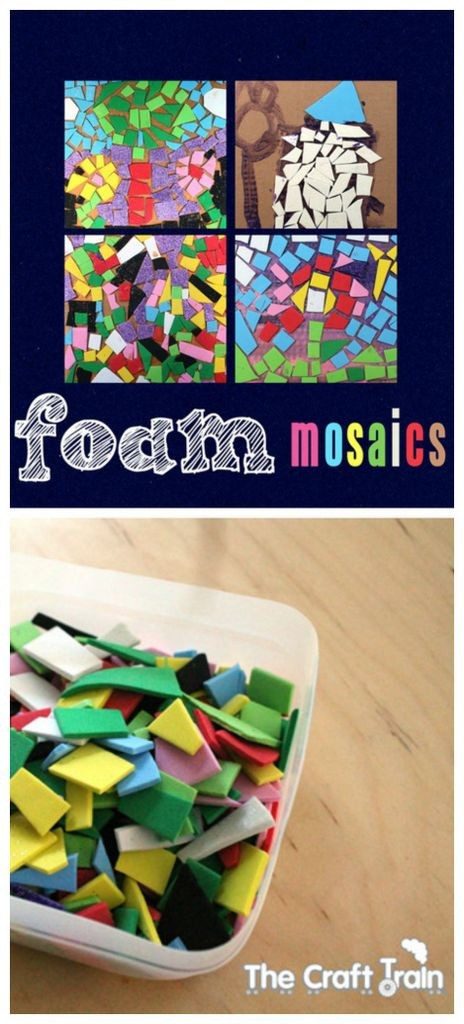 Foam mosaic kids craft