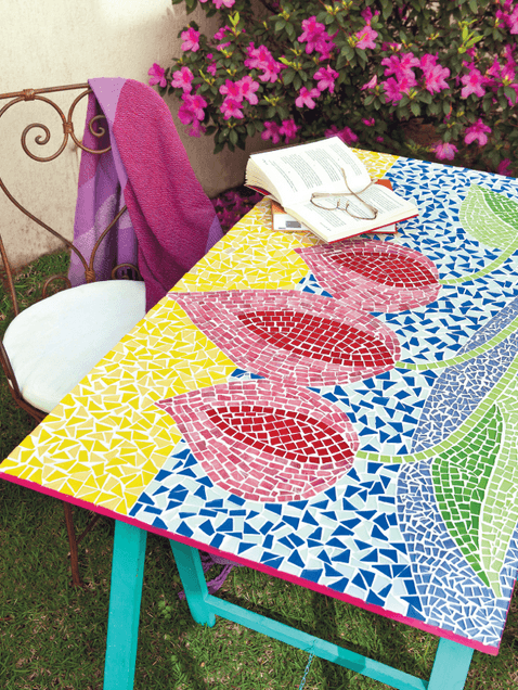 garden mosaic table - Mosaic Design Ideas