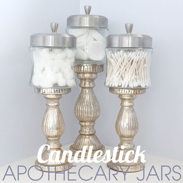 Mirror paint apothecary jars