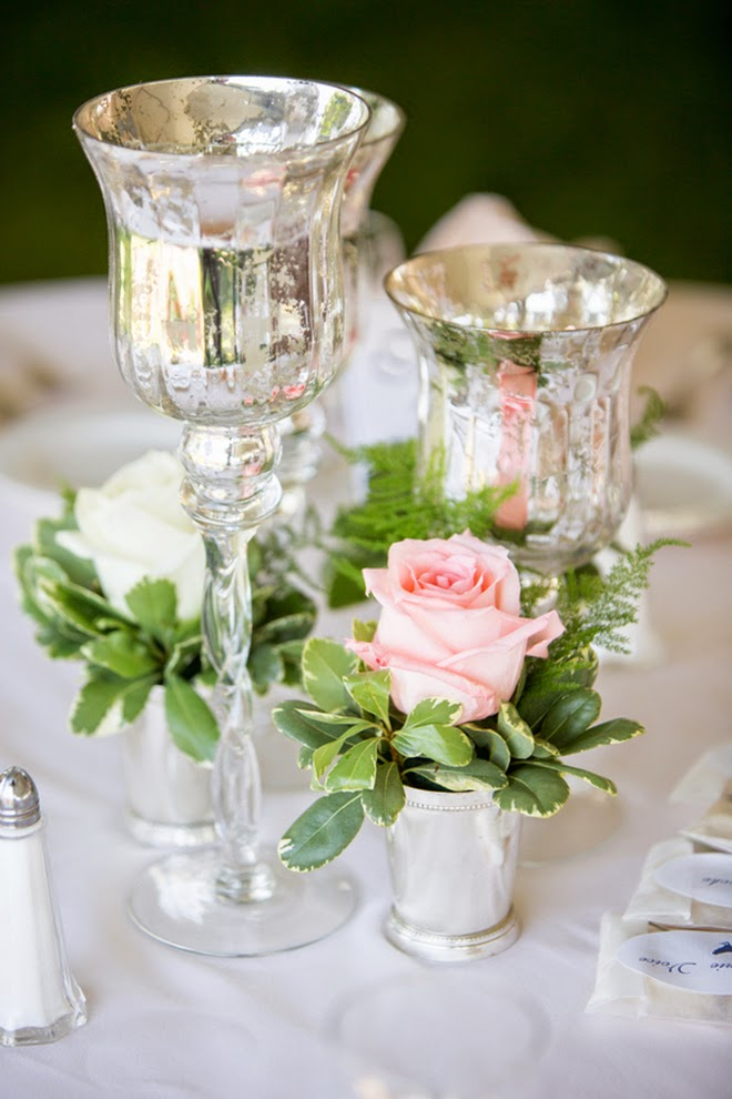 Beautiful Mirror paint centerpiece