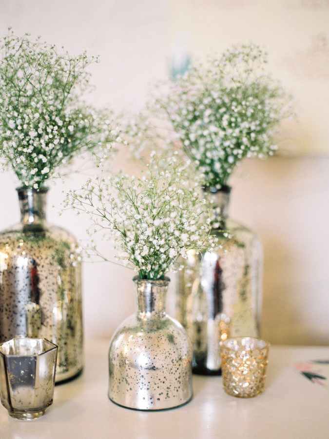 DIY mercury glass vases