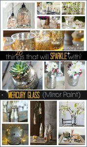 20 things that will SPARKLE with Mercury Glass – Mirror Paint