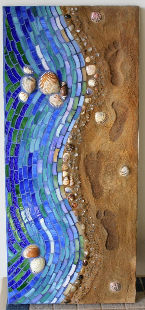 Mosaic seashore art