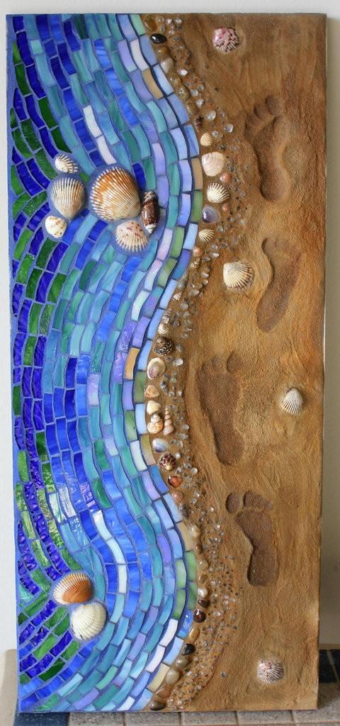Mosaic seashore art