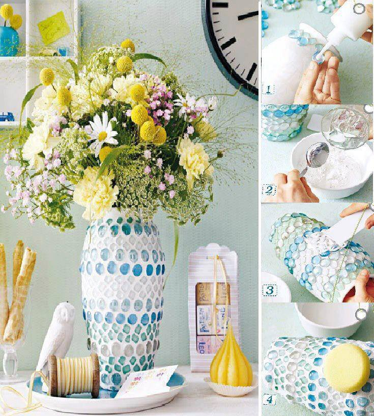 Mosaic vase tutorial
