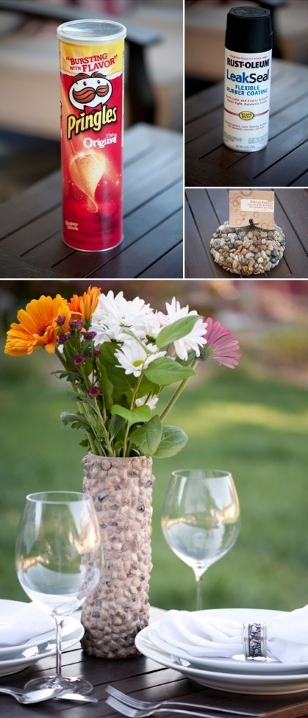 Recycle mosaic vase