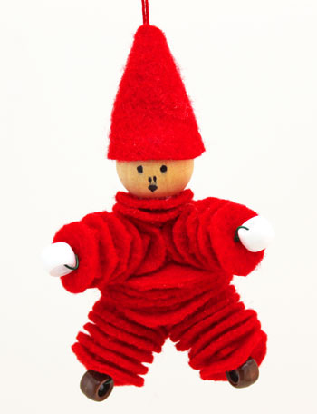 felt and bead elf