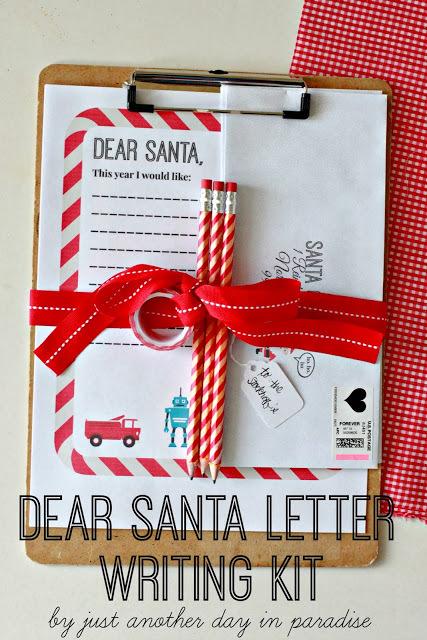 Santa letter writing kit