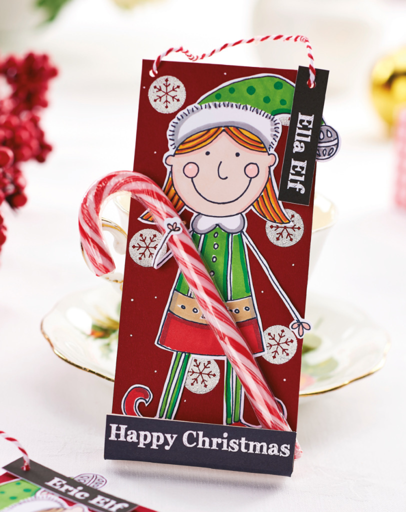 diy elf christmas cards