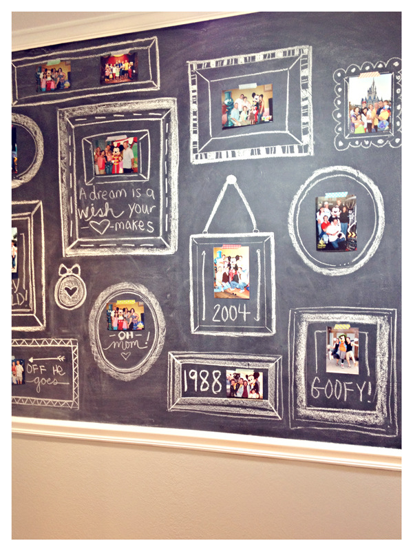 Chalk Board Photo Display