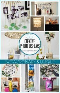Unique DIY photo displays at craftionary.net