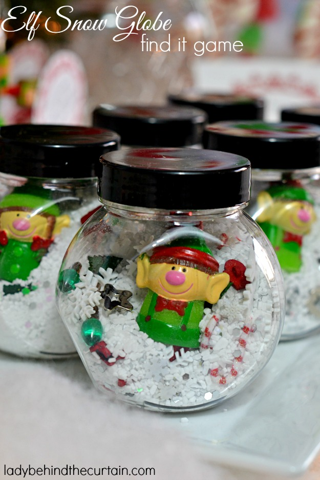 Elf-in-a-snow-globe