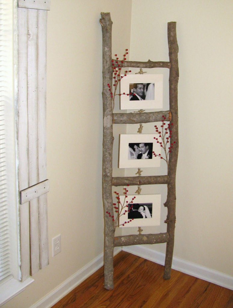 Ladder Photo Display