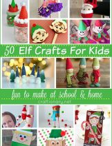 Great collection of Elf Crafts for kids for school and home creative time at craftionary.net