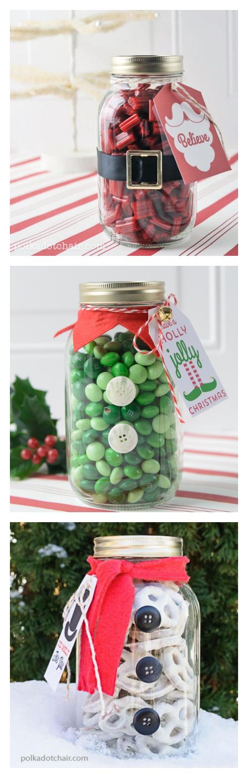 Elf mason jar craft and gift idea