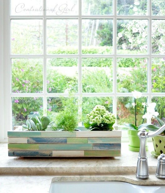 DIY wood shim window box
