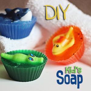 DIY Sea Creature Kids Soaps