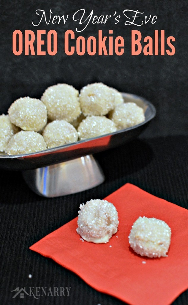 Sparkling New Years Eve Oreo Cookie balls