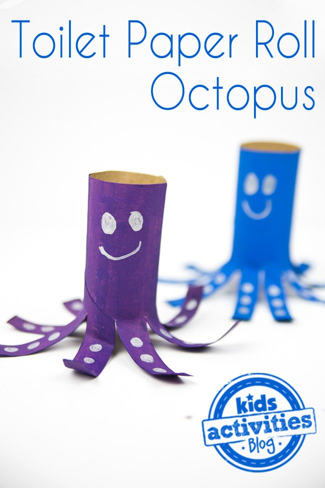 ocean animal crafts for kids - octopus