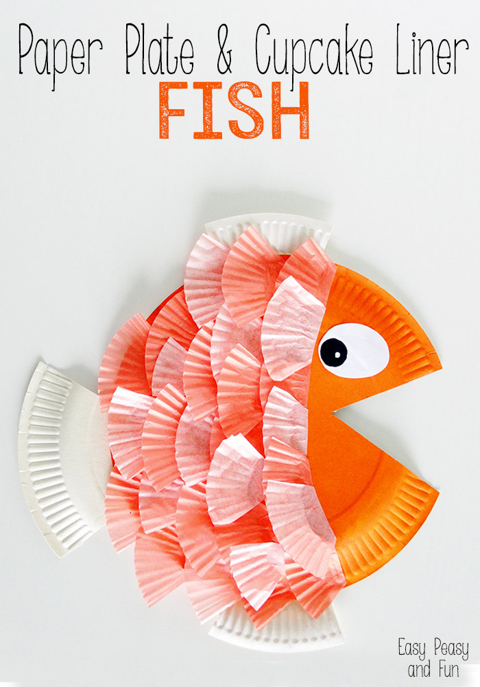 paper plate fish craft craftionary 5108