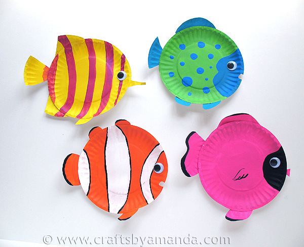 Paper plate sea creatures & Craftionary