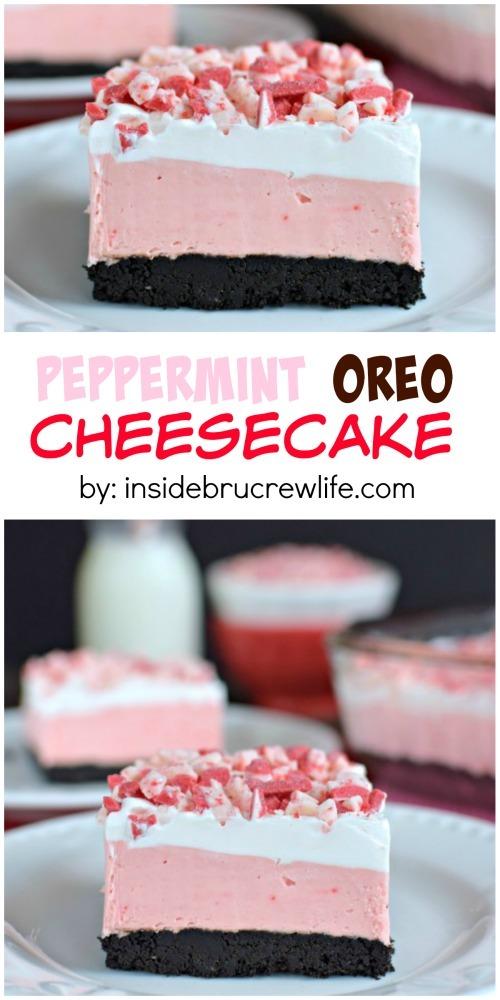 Peppermint oreo cheesecake recipe