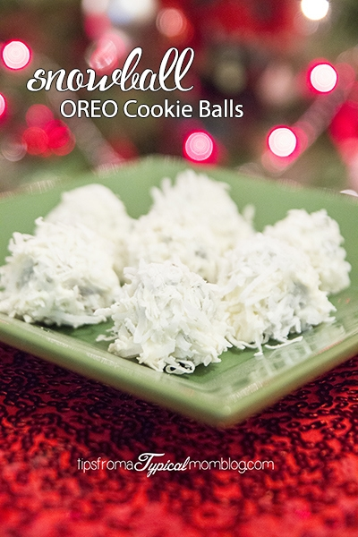 Snowball oreo cookie balls for Holidays