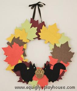 Squirrel crafted wreath